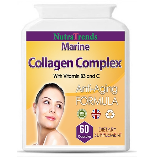 Collagen Complex With Vitamin B3 And Vitamin C Anti Aging Uk Made Capsules