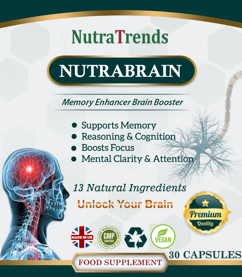 Nutrabrain is a Nootropics Cognitive Enhancers Supplement,a Mental performance and wellnes formaula. Vegan Capsule
