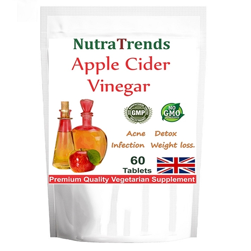 Apple Cider Vinegar 500mg Vegetarian Tablets Weight Loss/Detox
