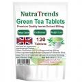 Green Tea 850 mg Tablets Natural Weight Loss Slimming Uk made 120 Vegetarian Tab
