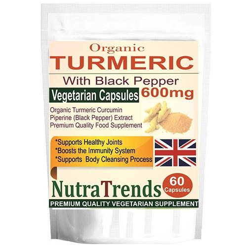 Turmeric Organic 600mg With Black Pepper Anti Inflammantory Veg Capsules